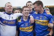 tipperarys Paul Fitzgerald, Brian Mulvihill and Hugh Coghlan celebrate promotion
