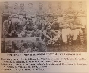 Tipperary's Three Munster Titles in 1935